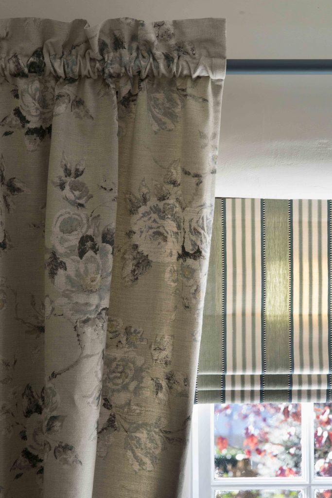 Stripes and florals Curtains and roman blind making | Curtain Making Kent and Sussex | Beth Barker Designs